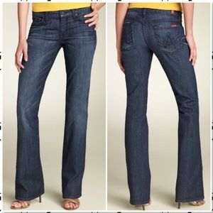 7 For All Mankind A Pocket Bootcut Jeans NY Dark